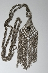 "MBA #E51-392   ""Vintage Silvertone Fancy Necklace"""