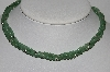 "MBA #E51-192   ""Vintage Sterling 3 Row Gemstone Bead Necklace"""