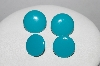 "MBA #E51-436   ""Vintage Set Of 2 Turquoise Colored Acrylic Pierced Earrigs"""