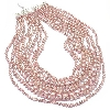 "**MBA #E51-363  ""Sterling Pink Cultured Pearl 8 Row Necklace"""
