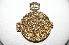 "MBA #E51-122   ""Vintage Gold Plated Fancy Pocket Watch Locket"""