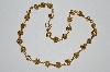"MBA #E51-343    ""Vintage 12K Gold Filled Fancy Knot Bead Necklace"""