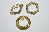 "**MBA #E51-286   ""Vintage Lot Of 3 Gold Plated Pins"""