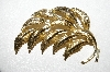 "MBA #E51-211   ""Mamselle Gold Plated Leaf Pin"""
