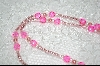 Bright Pink Glass Beads
