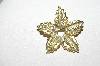 "**MBA #E51-222   ""Vintage Two Tone Fancy Leaf Pin"""