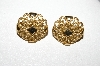 "**MBA #E51-048  MBA #E51-048   ""Avon Gold Tone Fancy Clip On Earrings"""