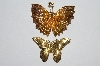 "**MBA #E51-295   ""Vintage Set Of Two Butterfly Pins"""