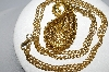 "MBA #E51-131   ""Vintage Fancy Hinged Gold Plated Pendant & Chain"""