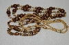 "MBA #E54-106   ""Vintage Lot Of ""3"" Wooden Bead Necklaces"""