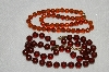 "MBA #E54-125   ""Vintage Lot Of ""2"" Brown Acrylic Bead Necklaces"""