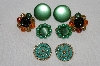 "MBA #E54-201    ""Vintage Lot Of  ""4"" Pairs Of Clip On Earrings"""