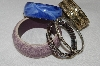 "MBA #E54-104    ""Vintage Lot Of ""6"" Bangle Bracelets"""
