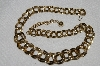 "MBA #E54-296   ""Vintage Gold Plated Fancy Link Necklace"""