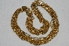 "MBA #E54-168   ""Vintage Gold Plated Fancy 15 Row Necklace"""