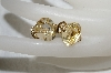 "MBA #E54-272   ""Monet Gold Plated Yellow Glass Stone Clip On Earrings"""