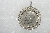 "MBA #E54-044  ""Anson Sterling Coin Holder Pendant With Coin"""