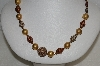 "MBA #E54-183   ""Vintage Acrylic, Glass & Metal Fancy Bead Necklace"""