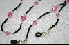 Pink Crystals & Black Seed Beads