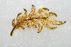 "MBA #E54-025   ""JJ Gold Tone Fancy Leaf Pin"""