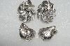 "MBA #E54-270   ""Vintage Lot Of 2 Pairs Fancy Silvertone Clip On Earrings"""