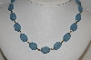 "MBA #E54-163   ""Vintage Gem Look Blue Lucite Bead Necklace & Bracelet Set"""