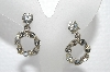 "MBA #E55-277   ""Silver Craft Clear Crystal Rhinestone Screw Back Earrings"""