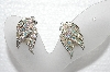 "MBA #E55-029   ""Sarah Coventry Silvertone AB Crystal Rhinestone Earrings"""