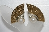 "MBA #E55-287   ""Park Lane Faux Pearl Rhinestone Fan Earrings"""