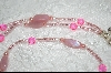 "MBA #6446  ""Pink Glass Pearls, Milk Pink Glass Beads & Bright Pink Glass Beads"
