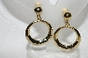 "+MBA #E56-196   ""Vintage Gold Plated Screw Back/Clip On Combo Earrings"""