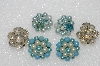"MBA #E56-082   ""Vintage Lot Of (3) Pairs Of Clip On Earrings"""