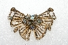 "+ MBA #E56-258   ""Vintage Gold Plated AB Crystal Rhinestone Pin"""