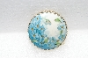 "**MBA #E56-023   ""Vintage Gold Tone Hand painted Floral Porcelain Pin"""