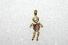 "MBA #S51-043   ""1980's Gold Plated Sterling February Boy Pendant"""