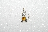 "MBA #S51-033    ""1980's Sterling November Cat Pendant"""