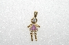"MBA #S51-083   ""1980's Gold Plated Sterling June Girl Pendant"""