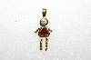 "MBA #S51-097   ""1980's Sterling January Girl Pendant"""