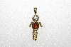 "MBA #S51-101   ""1980's Gold Plated Sterling January Boy Pendant"""