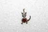 "MBA #S51-105   ""1980's Sterling January Cat Pendant"""