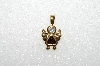 "*MBA #S51-017   ""1980's Gold Plated Sterling January Angel Pendant"""