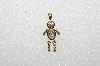 "MBA #S51-117   ""1980's Gold Plated Sterling April Boy Pendant"""