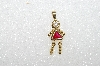 "MBA #S51-631   ""1980's Gold Plated Sterling July Girl Pendant"""