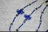 Dark Blue Glass Dragonflys