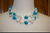 **Turquoise, Freshwater Pearl and Quartz Necklace