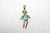 "MBA #S51-668   ""1980's Gold Plated Sterling March Boy Pendant"""