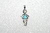 "MBA #S51-676   ""1980's Sterling March Girl Pendant"""