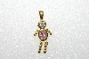 "MBA #S51-071   ""1980's Gold Plated Sterling October Boy Pendant"""