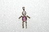 "MBA #S51-073   ""1980's Sterling October Boy Pendant"""