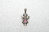 "MBa #S51-079   ""1980's Sterling October Angel Pendant"""